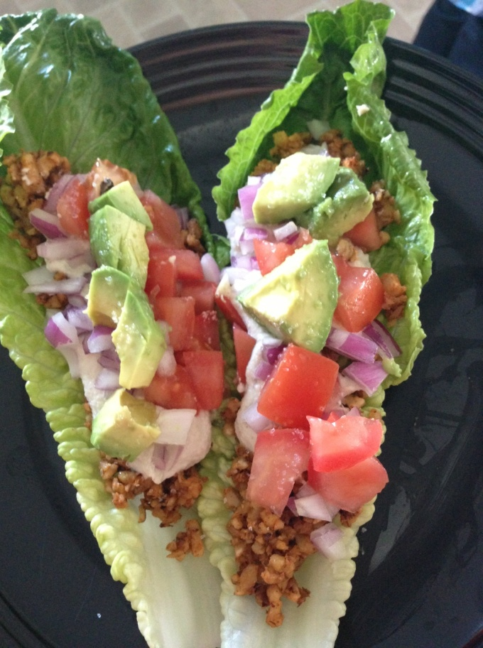 Vegan Tacos on Romaine