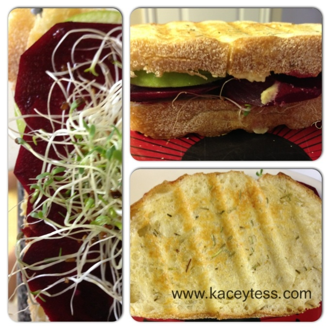 Beet and Apple Panini