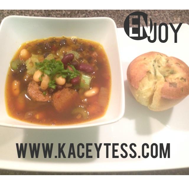 Vegetable Soup with Vegan Sausage