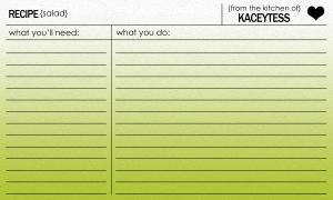 Kaceytess recipe card salad