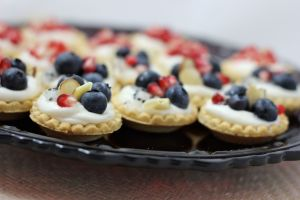 blueberry almond cheesecake tart