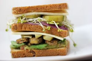 vegetarian club sandwich