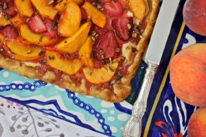 peach-honey tart