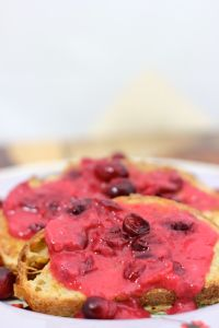 French toast with cranberry butter